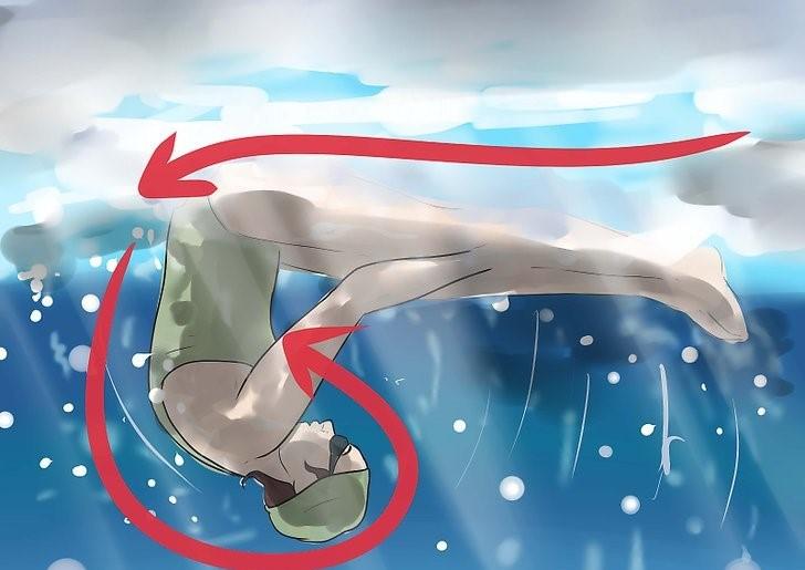 حرکت سالتو در شنای کرال سینه