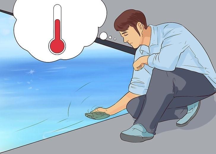 اندازه گیری درجه حرارت استخر