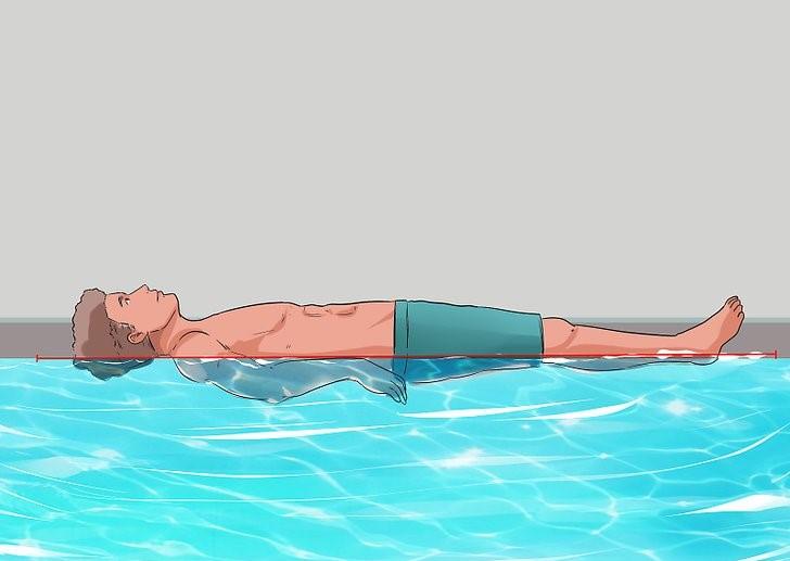 خوابیدن به پشت بر روی آب