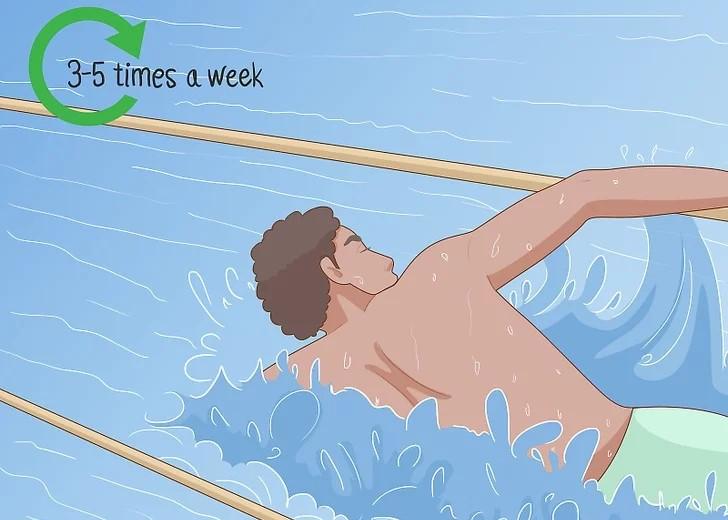 تصمیم بگیرید که سه تا پنج بار در هفته شنا کنید