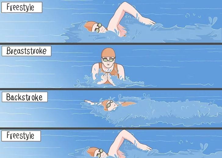 چهار دور با مدلهای مختلف شنا کنید